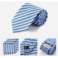 China Discount Designer Nave Blue Striped Ties on sale