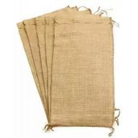 Cheap Flood Bags Gunny Sand Sacks Jute Burlap Sand Bags Self-tie with Non-woven on Large Size for sale