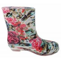 China Cheap Flower Rain Boots for Women on sale