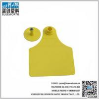 Cheap China large size two pieces TPU yellow ear tag for wholesale for sale