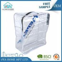 Cheap Printing Waterproof Clear Plastic Zippered Storage Bags for sale