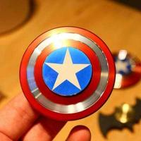 Cheap Hand Fidget Toy Captain America Shield Hand Spinner Metal Finger Stress reduce H for sale