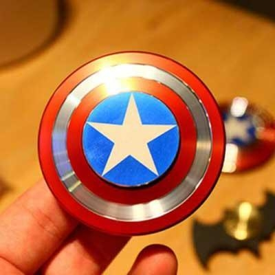 China Hand Fidget Toy Captain America Shield Hand Spinner Metal Finger Stress reduce H