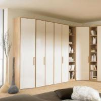 Cheap Fashion White Clothing Closets with Lacquer Doors Bedroom Furniture for sale