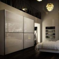 Cheap High Gloss White Lacquered Sliding Door Wardrobe, Closet with Sliding Doors for sale