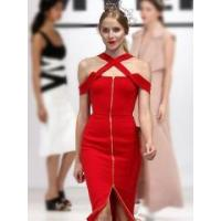 China RED CROSS HOLLOW OUT BANDAGE DRESS WHOLESALE on sale