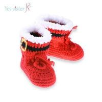 Cheap Cute Boots Crochet Baby Booties for sale