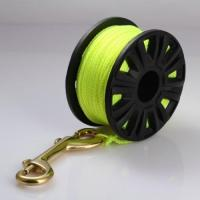 China TOKEE Scuba Diving 23m 30m Plastic Spool Reel with Nylon Color Line Brass Snap Bolt on sale