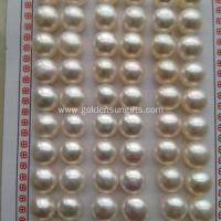 Cheap 7.5-8MM Half Hole Button Pearl Loose Beads for sale
