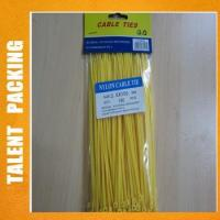 Cheap Colored Disposable Plastic Zip Binding Cable Ties for sale