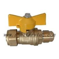 Buy cheap Code: V25-431 PE/AL/PE x Flare Ball Valve, Butterfly Handle from wholesalers