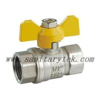 Buy cheap Code: V25-048 Brass ball valve, yellow T handle, FxF from wholesalers