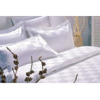 Buy cheap Bed Linen White Check Cotton Linen from wholesalers