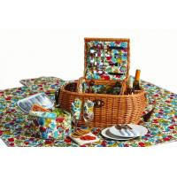 Buy cheap 2 Person Picnic Plus Waterloo Willow Picnic Basket, Florabunda from wholesalers