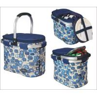 Buy cheap Picnic & Beyond Blue Aluminum Framed Picnic Cooler Basket for 2 from wholesalers