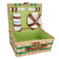 Buy cheap Picnic and Beyond Willow Picnic Basket for Two, Honey & Green from wholesalers
