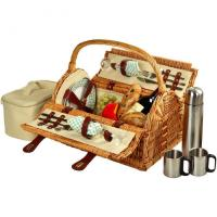 Cheap Picnic at Ascot Sussex Picnic Basket for 2 w/Coffee, Wicker/Gazebo for sale