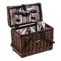 Cheap Picnic and Beyond Willow Picnic Basket for 2, Brown for sale