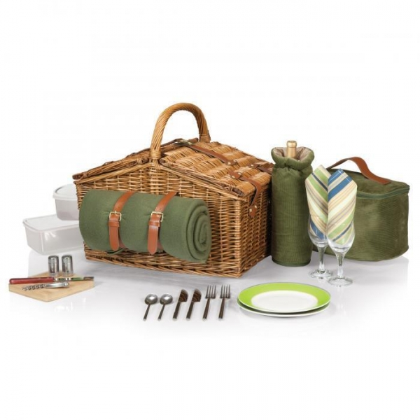 China Picnic Time Somerset Willow Basket for Two