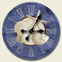 Cheap Nautical Clocks 12 Wood Wall Clock, White Sand Blue Sea for sale