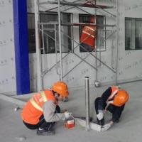 cleanroom window with square corner on sandwich panel