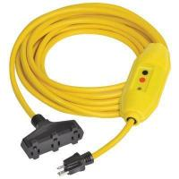 Cheap GFCI Inline Extension Cord with Triple Outlet for sale