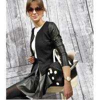 Buy cheap Jacket W24007-2 jacket with leather sleeves from wholesalers