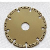 Cheap Brazed diamond grooving cutting blade 115*22.23**5.0mm for wet cutting marble and granite for sale