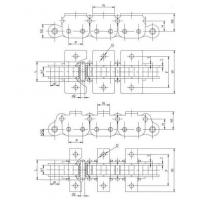 Cheap Articulated bottom plate chain for sale