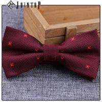 Cheap stock low moq 10 extra long burgundy bow tie for sale