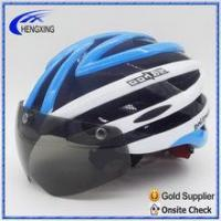 China Half face bicycle helmets with goggle, Big space helmet even you wearing glasses on sale