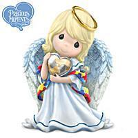 China Angels Precious Moments Angel Figurine Supports Autism Awareness on sale