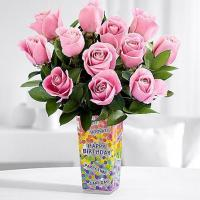 China Best Sellers One Dozen Long Stemmed Pink Party Roses on sale