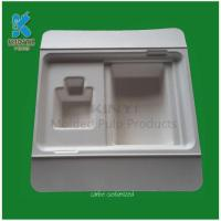 China Mechanical Bleached bamboo pulp packaging tray on sale