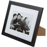 Cheap 5 x 7 Matted Picture Frame for Tabletop Use, Wood, Matted to 5 x 7 - Black for sale