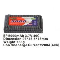 Cheap Delong 5000mAh lithium ion battery with 40C discharge rate for sale
