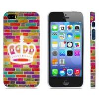 Cheap Colorful Brick Wall Print Plastic Protective Case for iPhone 5/5S wholesale