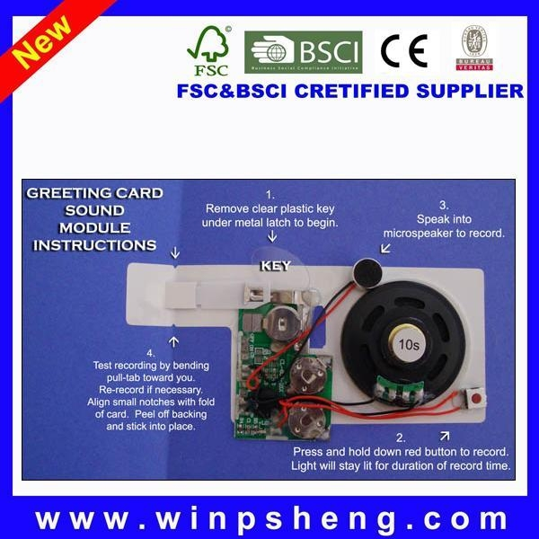 Quality Greeting Card Recordable Recorder Sound Chip wholesale
