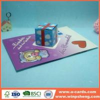 Cheap Easy Flower Handmade Pop Up Card For Mother's Day for sale
