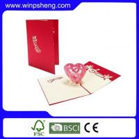 Cheap Handmade Card Heart Pop Up Art Card Template For Mothers Day for sale
