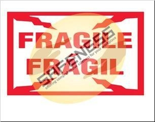 Quality Bilingual Fragile Package Handling Label wholesale