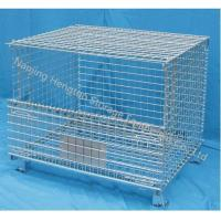 Cheap Wire Mesh Container with Top Cover for sale