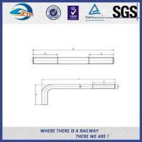 Buy cheap Railroad Fastener Qualified Railway Bolt with washer / heavy square nuts from wholesalers