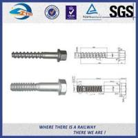Plain Driving Railroad Spikes Screws For Fasten Sole Plates To Wooden Sleepers