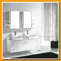 China SP-7119 Double vessel sink wooden bathroom cabinet lowes bathroom sinks vanities on sale