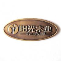Cheap wooden brass metal oval engraved brass plates for sale