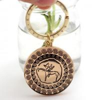 Cheap wholesale keychains metal gold plated for sale