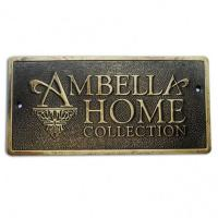 Cheap customize antique finish engraved name plates for sale