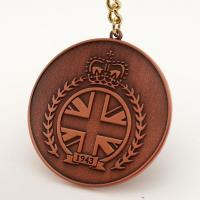 Cheap metal copper plated key chain for sale
