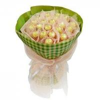 Cheap Birthday bouquet of 21 pieces of ferrero rocher NO.3 delivery birthday for sale
